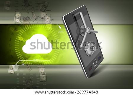 Data security concept - stock photo