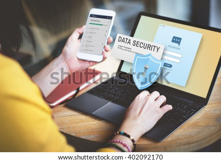 Data Security Digital Internet Online Concept - stock photo