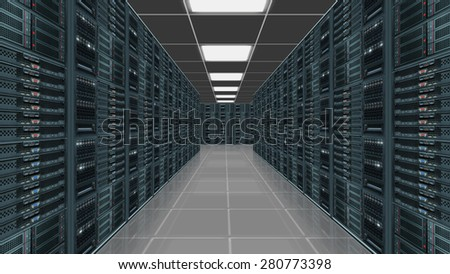 Data server center - stock photo