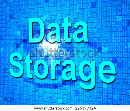 Data Storage Representing Storehouse Computer And Storing - stock photo
