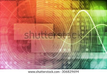 Data Stream of Internet Digital Information Moving - stock photo