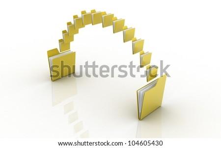 Data transfering concept - stock photo