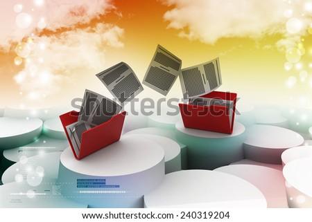 Data transferring - stock photo