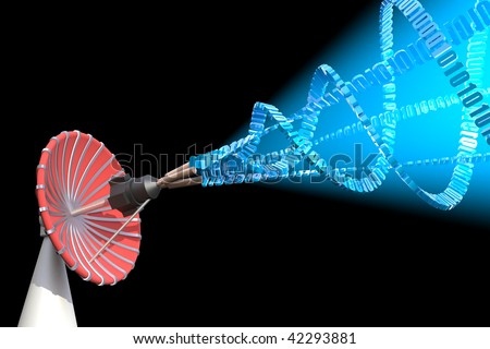 Data transmitter. Hi-res digitally generated image. - stock photo