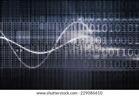 Data Visualization with Multiple Info Stream Art - stock photo