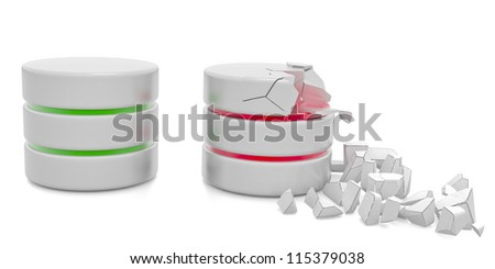 Database and computer data security concept - stock photo