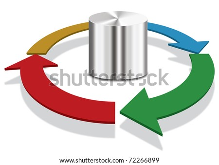 Database diagram, business and technology concept - stock photo