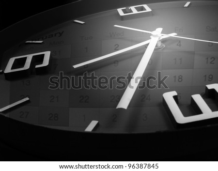 date and time - stock photo