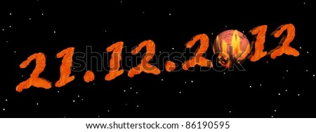 Date for the end of the world according to Maya prophecy - stock photo