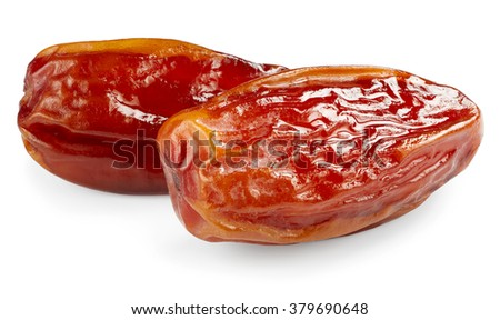 Date fruits isolated on white background