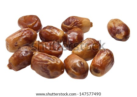 date isolated on a white background - stock photo