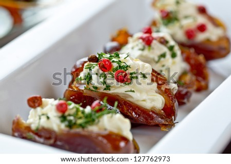dates with cheese and lemon paste