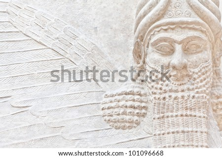 Dating back to 3500 B.C., Mesopotamian art war intended to serve as a way to glorify powerful rulers and their connection to divinity - stock photo