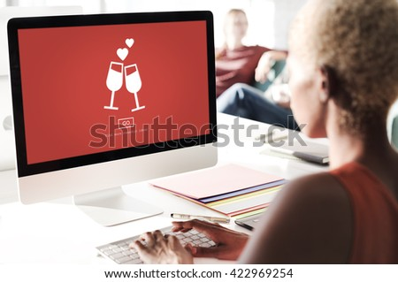 Dating Passion Couple Cherish Emotional Concept - stock photo
