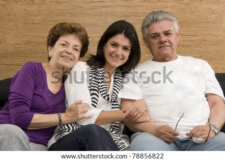 Daughter enjoying with her mature Mother and Father