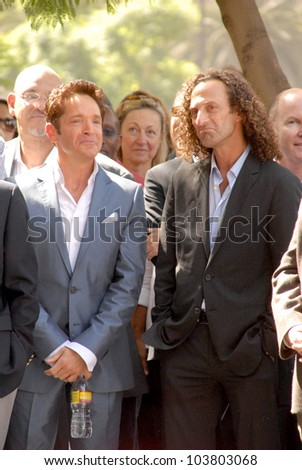 Dave Koz and Kenny G  at the ceremony honoring Dave Koz with a star on the Hollywood Walk of Fame. Vine Street, Hollywood, CA. 09-22-09