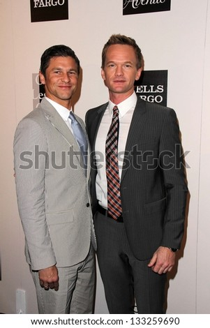 David Burtka, Neil Patrick Harris at the L.A. Gay And Lesbian Center Hosts 'An Evening' honoring Amy Pascal and Ralph Ricci, Beverly Wilshire, Beverly Hills, CA 03-21-13 - stock photo