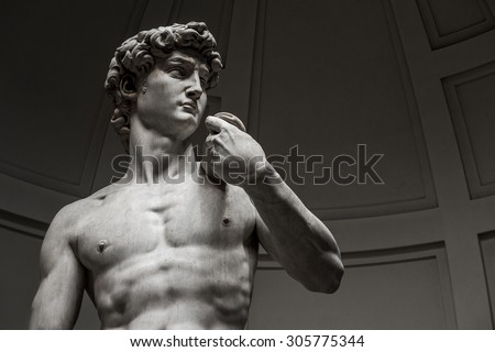 David by Michelangelo, Florence. Italy. - stock photo
