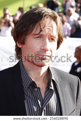 """David Duchovny at the World Premiere of """"The X-Files: I Want To Believe"""" held at the Grauman's Chinese Theater in Hollywood, California, United States on July 23, 2008.  - stock photo"""