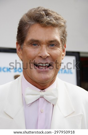 David Hasselhoff at the Los Angeles premiere of 'Hop' held at the Universal Studios Hollywood in Universal City on March 27, 2011.  - stock photo