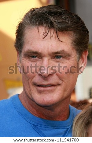 "David Hasselhoff at the world premiere of ""Evan Almighty"". Gibson Amphitheatre, Universal City, CA. 06-10-07"
