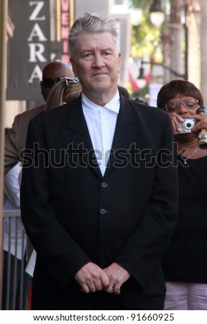 David Lynch at Sissy Spacek's induction into the Hollywood Walk of Fame, Hollywood Blvd, Hollywood, CA. 08-01-11