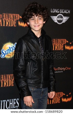 David Mazouz at the 8th Annual LA Haunted Hayride Premiere Night, Griffith Park, Los Angeles, CA 10-10-13