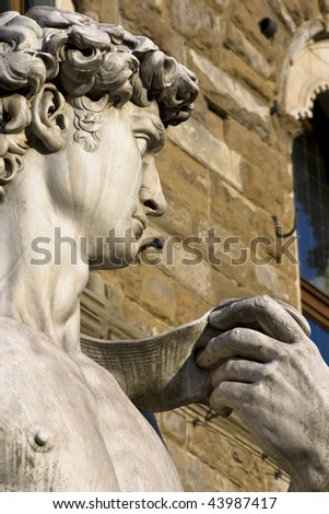 David of Michelangelo, Florence, Italy - stock photo