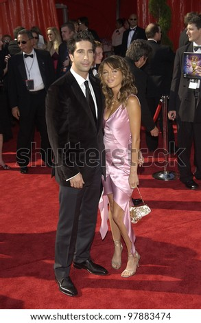 DAVID SCHWIMMER & girlfriend at the 55th Annual Primetime Emmy Awards in Los Angeles. Sept 21, 2003  Paul Smith / Featureflash