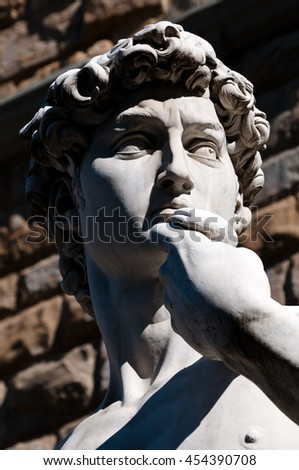 David sculpture by Michelangelo, Florence city, Italy