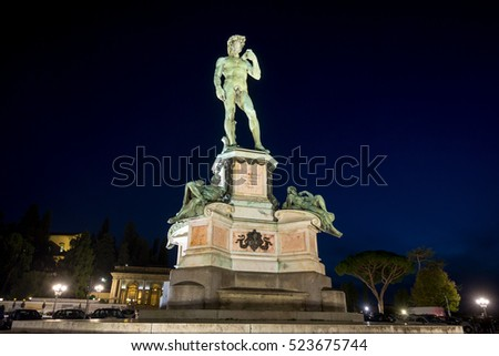 David statue by Michaelangelo in Florence