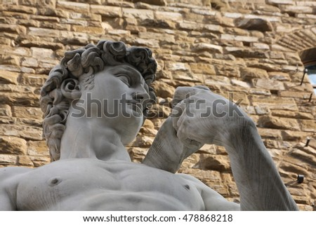 David statue replica in Firenze, Florence, Italy