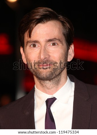 David Tennant arriving for the Nativity 2: Danger In The Manger Premiere, at Empire Leicester Square, London. 13/11/2012 Picture by: Alexandra Glen - stock photo