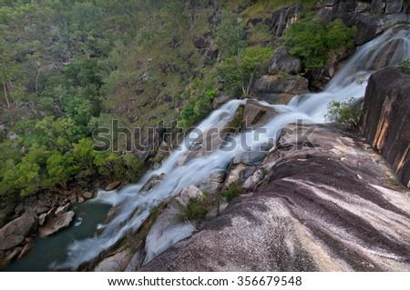 Davies Creek Falls, Davies Creek National Park, Queensland, Australia - stock photo