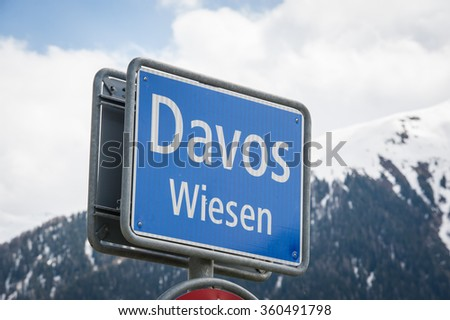 Davos Switzerland - stock photo