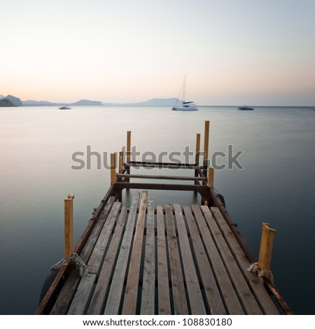 Dawn at Black sea - stock photo