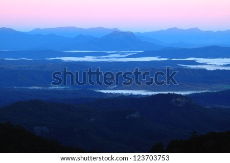 Dawn at Lamington National Park, Queensland,Australia