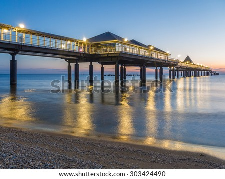 dawn at the pier of heringsdorf, Germany