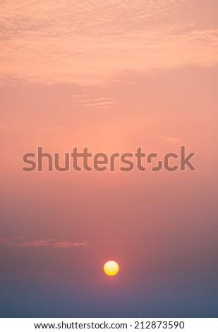 dawn in Chengdu, China - stock photo