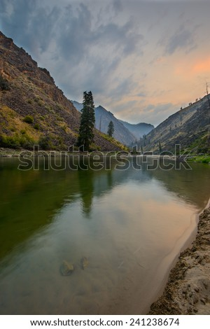 Dawn on the River - stock photo