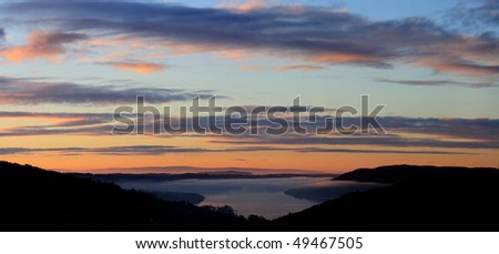 Dawn over Lake Windermere, English Lake District