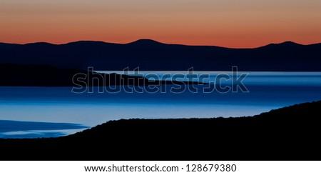 Dawn over Mono Lake, California - stock photo