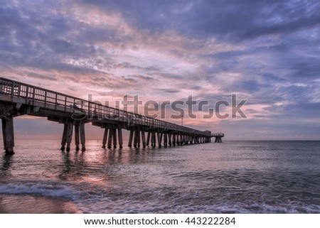 Dawn over the fishing pier