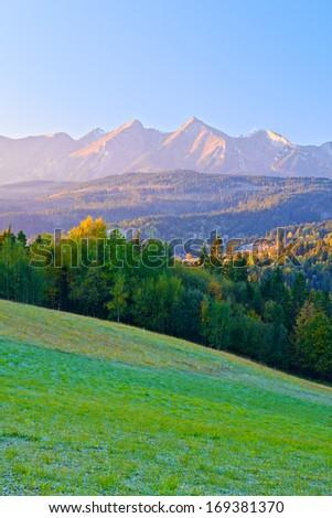 Dawn over The Tatras. The Carpathian Mountains. View From Spis Magura. Poland. - stock photo