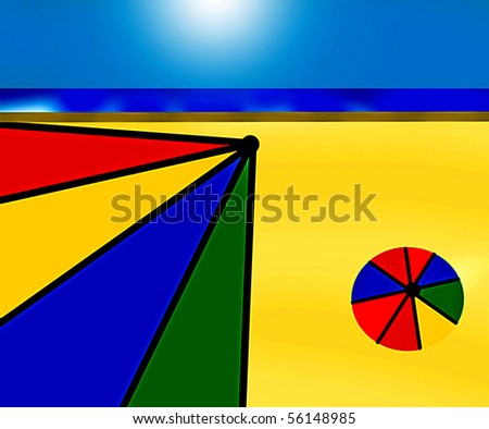 Day at the Beach - stock photo