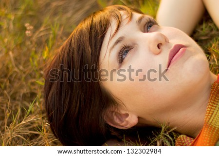 Day dreaming - stock photo