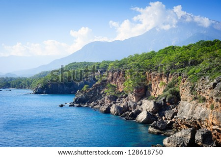Day landscape in the Mediterranean Sea