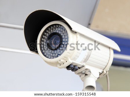 Day & Night Color IP surveillance camera in a hotel - stock photo