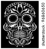 day of the dead skull (raster version) - stock vector