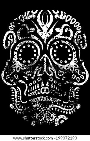Day of the Dead Sugar Skull Design - stock photo